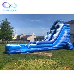 핫 셀링 워터 슬라이드 점핑 캐슬 바운스 하우스 워터 슬라이드 슬라이드와 함께 팽창식 커머셜 점프 캐스터