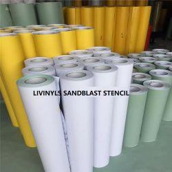 Alto agarre pintura amarilla Plotters de máscara de Sandblast vinilo de corte Galería Monumento de piedra, madera, ladrillo