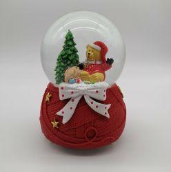 [بولريتنغ] لون موسيقى صندوق عيد ميلاد المسيح كرة أرضيّة لون موسيقى صندوق [بولريتنغ] ثلج هدية عيد الميلاد من زينة سطح الكرة الأرضية