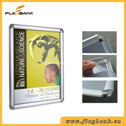 A4 de la pantalla de la esquina de la Ronda de aluminio Snap/Poster/Marco de fotos