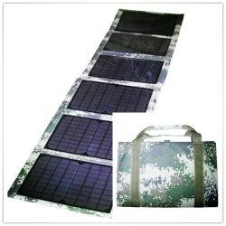 ラップトップを満たす12V Battery+10のコネクターへの60With18V Foldable太陽Panel+Solar Controller+Crocodileのクリップ