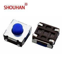 Interrupteur tactile en caoutchouc de silicone 6*6 Tact spécialisé pour le contacteur de la cigarette électronique