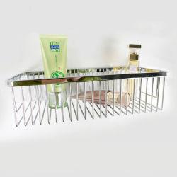 Las capas de cromo de Acero Inoxidable accesorios de baño solo Cesta de alambre de ducha de esquina