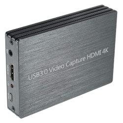 USB 3.0 de vídeo 1080P HD Live Stream gris Tarjeta de captura de juego para PS4 consolas de videojuegos DVD grabador de vídeo de entrada de micrófono compatible con Windows Linux OS X