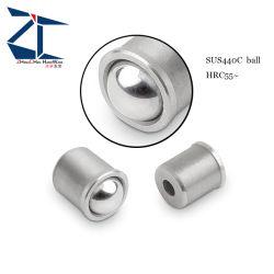 Em aço inoxidável de 6 mm de diâmetro 5 mm de bola o êmbolo da mola de encaixe por pressão