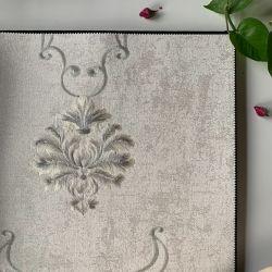 Tejido resistente al agua no cubre la pared Floral bordar el papel de pared de lujo