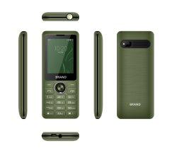 Telefono di base poco costoso della caratteristica 2.4 telefono doppio delle cellule dell'altoparlante 2g GSM del telefono mobile della caratteristica della batteria della tastiera SIM 1800mAh di pollice grande fortemente