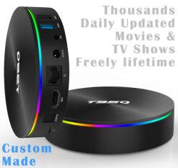 Élément de fait sur mesureT95q Amlogic S905X2 Quad Core Smart Android 8.1 TV Box 4Go de mémoire DDR de 64 Go Mise à jour quotidiennement des milliers de Films & Séries TV gratuit à vie