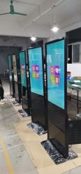 접촉 스크린 간이 건축물을 광고하는 LCD 디지털을 서 있는 49inch 지면
