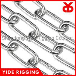 DIN5685c lange ronde schakel Kettingklasse G30 afbramen glad gelast Gegalvaniseerde ketting met hoge kwaliteit