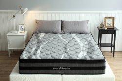 현대적인 침실 가구 호텔 침대 매트리스 필로우 탑 포켓 스프링 매트리스 라텍스 메모리 폼 매트리스 Eb15 - 퀸사이즈 베드 1개