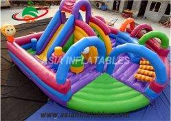 Мини-внутри надувной парк развлечений надувные игровая площадка с препятствием на пути