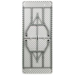 5FT exposições grossista visor plástico retangular mesa dobrável