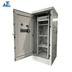 27u 30u 32u NEMA 3R NEMA 4 خزانة مدمجة خارجية حاوية اتصالات مع مبادل حرارة DC48V بقدرة 120 واط/ك