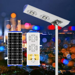 IP65 для использования вне помещений все в один встроенный светодиодный индикатор солнечной улице лампа с литиевой батареей датчик движения