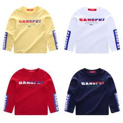 Stück-Hemd Kamm-Baumwollsicherheitskreis-der Gewebe gedruckten langen Hülsen-Kinder