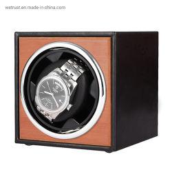 패션 싱글 USB 시계 와인더 박스 맞춤형 직접 판매 블랙 PU 시계 롤 가죽 케이스