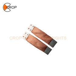 Conexión a tierra de cultivo del trenzado de cobre flexible de cobre trenzado conectores