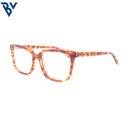 BV Vintage Modern Style نظارات بصرية دائرية ذات إطارات أكيتات النساء والرجال