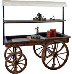 Visualizzazione floreale del carrello della visualizzazione del carrello della visualizzazione di legno del forno