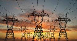 La transmission de puissance de la transformation de la distribution électrique de ligne de treillis en acier de la suspension de la tour de la tension de fer