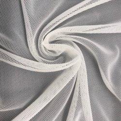 Super Suave Estiramiento blanco de nylon y Spandex tejido de malla de potencia