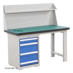 Industrieller Edelstahl-Werktisch-Beleuchtung-Standplatz