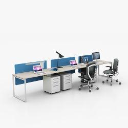 最新の商業現代デザインモジュラーオフィス表モデルオルガナイザーの机のオフィス