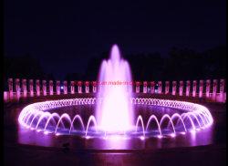 Фиолетовый цвет круглой формы на открытом воздухе 10м Площади фонтанов