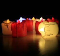 Sin flama realista y brillante lámpara de parpadeo eléctrico a pilas para la boda velas