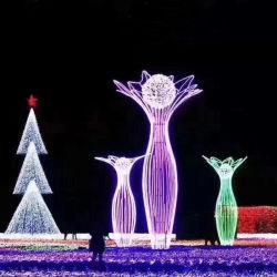 Acrilico RGB decorativo Natale illuminato attraverso Street Motif Light