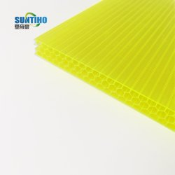 Переработанных полой поликарбоната гофрированного картона пластмассовые кровельных листов в Китае