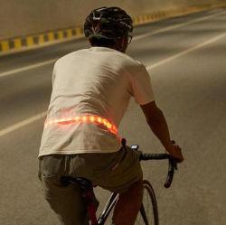 24PCS RGB, het Cirkelen van de Lamp van de Controle van de Richtingaanwijzer van de Fiets van 8 Wijzen van de Flits de Lichte/Radio Draaiende het Berijden van de Nacht van de Riem van het Licht van de Veiligheid Weerspiegelende Regelbare Grootte van de Kleur