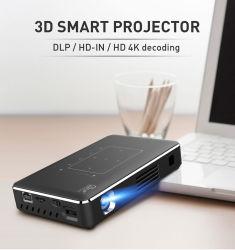 Pantalla retráctil eléctrico lente láser 4K de la función de teléfono móvil con proyector DLP Inteligente 4K de la luz de Android en el exterior proyector 4K profesional
