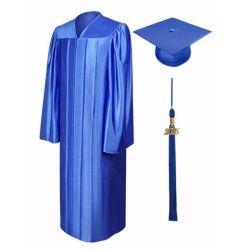 Abito e protezione all'ingrosso di graduazione dell'azzurro reale con le nappe 2020