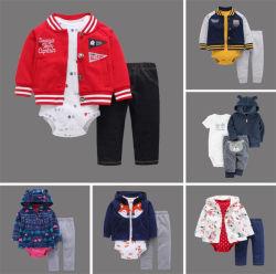 Hoogwaardige 3PCS Baby Outfits Jongenskleding Set Jacket Sweatershirts Romper Pants Baby Clothing Sets Ropa Bebes Baby draagt