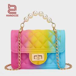 Damen Taschen Luxus Damen Designer PU Leder Schultertasche Großhandel Markt Frau Marke Mini Crossbody Sling Mode Luxus Clutch Girl Handtasche aus PVC mit Jelly Lady