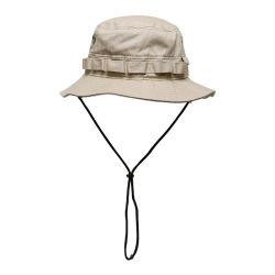 맞춤형 남성용 및 여성용 아웃도어 트레킹 버킷 스포츠 모자 드로스트링 카키