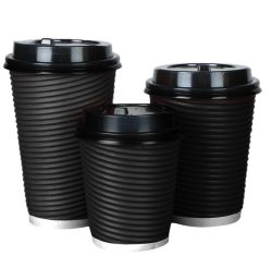8oz 12oz 16oz Ripple Double Wall Coffee Paper Cup