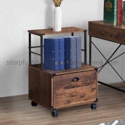 Mobiliário de escritório em casa cor de avelã Madeira armário de arquivos móvel da gaveta