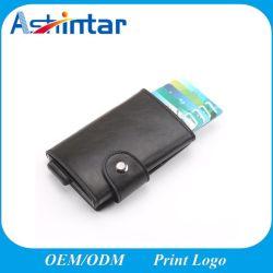 Металлические Business Card Wallet кредитные карты ID из натуральной кожи с помощью блокирования RFID