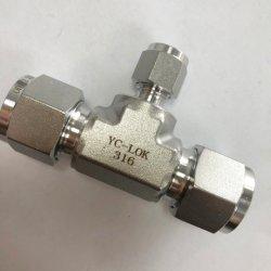 تركيبة أنبوب على شكل حرف T ثلاثية الاتجاه من الفولاذ المقاوم للصدأ SS 304 بوصة/2 بوصة موصل BSP ذو الحز الأنثى المتساوي لأنبوب زيت الغاز المائي التركيب