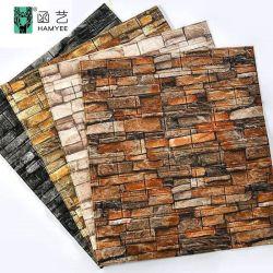 De geluiddichte Milieuvriendelijke PE van de Baksteen van het Document van de Muur van Papel Tapiz Zelfklevende Decoratie van het Huis van de Stickers van de Muur van het Behang van het Schuim 3D