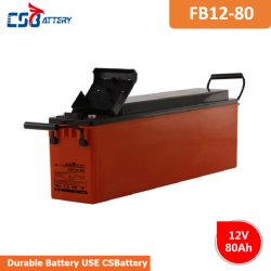 Csbattery 12V80Ah Slim Telecom Racks de batería batería AGM para UPS/Telecomunicaciones/comunicación/rectificador/Energy-Accumulator/VS: Sacred-Sun/Ritar