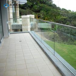 U Channel Framy Glass Railing Balcony Guardrils