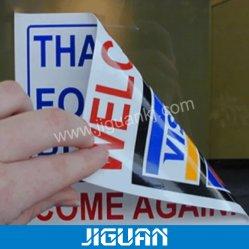 Custom Logo Zwei Seiten Gedruckt Selbstklebende Kosmetik Lebensmittel Medizin Autofenster statische Aufladung UV-Beständigkeit in Rolle oder Blech Aufkleber Mit Verpackungsklebstoff