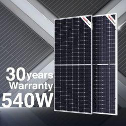 Longi Solar Hi-Mo5 M10 اللوحات الشمسية الوحدة 540W Lr5-72hbd لوحة شمسية مزدوجة الزجاج للوجه بقدرة 540 واط