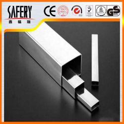 أنبوب ملحوم من الفولاذ المقاوم للصدأ المدلفن مقاس 2.5 بوصة مربعة مقاس A554 متري أنابيب من الفولاذ الذي لا يصدأ