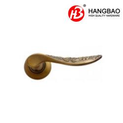 Cerradura de puerta balseta/Zamak/Aleación de zinc/aluminio empuñadura de puerta de alta calidad/palanca Handledoor Mango con roseta redonda