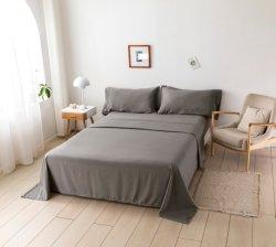 Luxe Hotel Beddenset 100% Microfiber Solid Grey ons grootte Set lakens